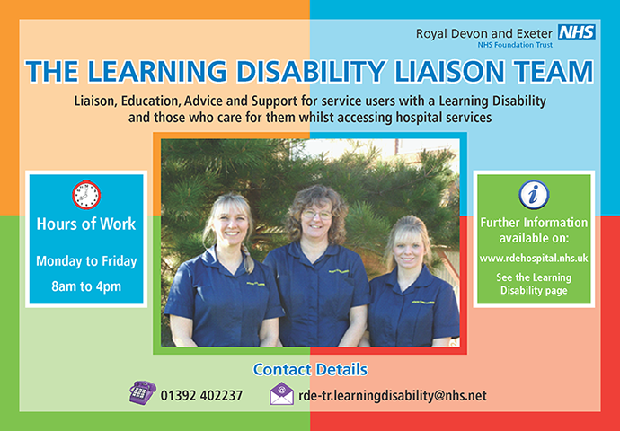Learning Disability Liaison Team poster